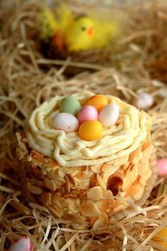Little Easter nests Amandine Cooking Desserts Ostern, Easter Dishes, Candy Crafts, Easter Recipes, Easter Desserts, Spring Crafts, Cake Cookies, Cake Recipes, Food And Drink