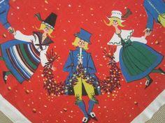SWEDISH Tablecloth Dancing Couples. (Neatokeen on Etsy)