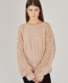 873a323bd9 Cropped Fisherman Sweater by Ryan Roche. Peter Nguyen · Chunky