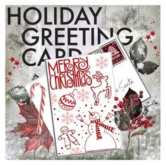 """""""Holiday Greeting Card"""" by szaboesz ❤ liked on Polyvore featuring interior, interiors, interior design, home, home decor, interior decorating and holidaycard"""