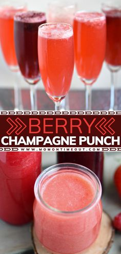 Your New Year's Eve party needs this easy drink! Not only is this cocktail incredibly gorgeous with its vibrant colors, but it tastes amazing as well. Made with fresh berries and champagne or sparkling wine, this punch will WOW your guests! Pin this recipe for later! Easy Thanksgiving Recipes, Fall Recipes, Holiday Recipes, New Years Eve Drinks, New Years Eve Food, Summer Drink Recipes, Cocktail Recipes, Berry Punch, New Year's Food
