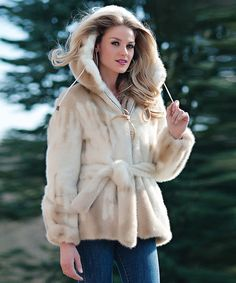 Take a look at this Ivory Faux Fur Parka by Donna Salyers' Fabulous-Furs on #zulily today!