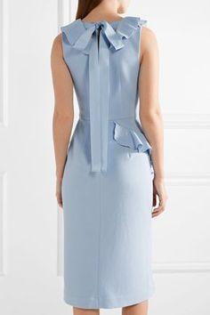 Rebecca Vallance | Sylvette ruffle-trimmed crepe dress | NET-A-PORTER.COM