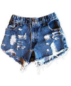 Vintage, cut off,  jeans,  shredded,  damaged,  fray,  grunge, omen eye, short, shorts $40.00
