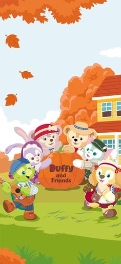 Friends Wallpaper, Bear Wallpaper, Kawaii Wallpaper, Wallpaper Iphone Cute, Disney Wallpaper, Cute Wallpapers, Duffy The Disney Bear, Disney Love, Cute Patterns Wallpaper