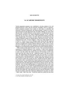 Academic dishonesty essay