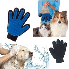 Your dog or cat will love the True Touch Five Finger De-shedding Glove! They love it when you pet them. The glove mimics your loving touch of your hand and feels like a relaxing pet massage! Each glov