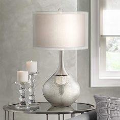 Possini Euro Design Swift Modern Mercury Glass Table Lamp - #7C391 | Lamps Plus