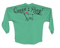Queen of the Ring. Stock show spirit jersey. Pig show shirt. pom pom jersey. by FlamingoPinksApparel