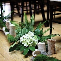ferns for wedding decorations | see more ceremony decor green earth tones rustic