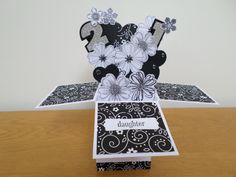 Card In A Box Made For My Daughters 21st Birthday Using Stampin Up Stamps And
