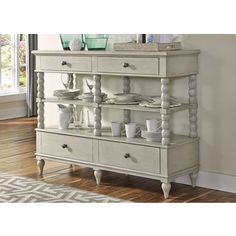 Shop for Cottage Harbor Dove Grey Sideboard Server. Get free delivery at…