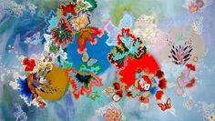 "Saatchi Art Artist: Lia Porto; Acrylic 2013 Painting ""Adios a las orugas (bye bye caterpillar)"""