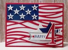 Peanuts and Peppers Papercrafting: Make It Monday - Stampin' Up! Swirly Scribbles July 4th Card