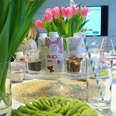 Fruits, water, chocolate and Nupo diet powder at a brunch in early March 2016 in Vienna.The Austrian division of diet powder producer Nupo (nupo.at) invited to a brunch for the introduction into the products and diet program of the label which was founded 35 years ago in Denmark. The products were developed after medical researches on low calorie diets...