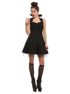 Disney Maleficent High-Collar Dress.  Yes, I want to dress like the wicked queen.  What?!