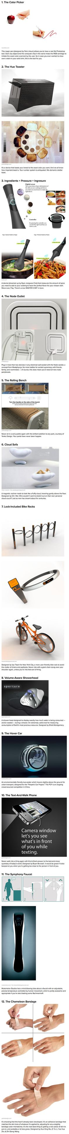 Check out a handful of awesome concept devices, direct from the depths of the human imagination.