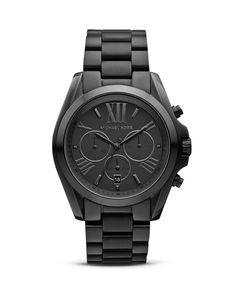 Michael Kors Brushed Stainless Steel Chronograph, 43mm | Bloomingdale's