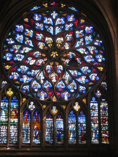 Sens Cathedral Rose Window To Color Leaded GlassStained
