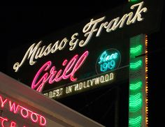 Musso & Frank's... Hollywood Blvd.
