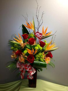 #Tropical Valentines Valentines Flowers, Valentine Gifts, Holiday Gifts, Corporate Flowers, Memorial Flowers, Floral Arrangements, Flower Arrangement, Tropical Design, Romantic Vacations