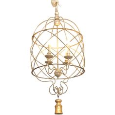 Italian birdcage chandelier with tassel