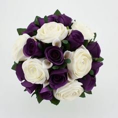 White  Purple Wedding Bouquet #Purple wedding receptions ... Wedding ideas for brides, grooms, parents  planners ... https://itunes.apple.com/us/app/the-gold-wedding-planner/id498112599?ls=1=8 … plus how to organise an entire wedding, without overspending ♥ The Gold Wedding Planner iPhone App ♥