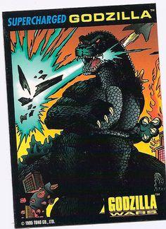 SUPERCHARGED GODZILLA '95 TRENDMASTERS MISB GODZILLA WARS w/ CARD works GREAT!   eBay