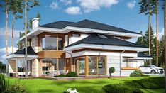 Dom z widokiem - zdjęcie 2 Luxury House Plans, Modern House Plans, Modern House Design, Big Houses Inside, House Inside, Casa Loft, Loft House, Amazing Buildings, Dream House Exterior