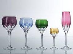 copos de cristal - coloridos