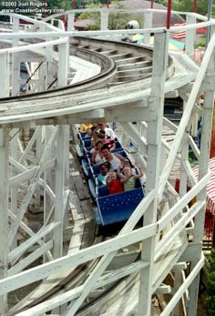 kiddieland - the tamest roller coaster on the planet, but it was quite a thrill for a little kid!