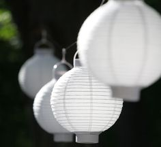 These battery operated paper lanterns are great for parties, weddings and home decor!
