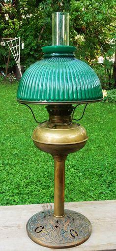 "Scarce Antique Rayo Oil Lamp Ornate Iron Base Pat 1905 26 1 2"" Tall | eBay"