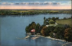 Aerial View of Clark Lake Yacht Club #JacksonMI Michigan