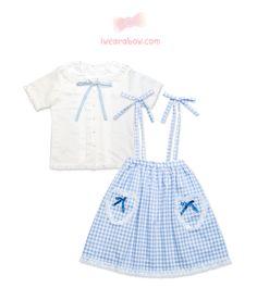 600d3c2d49e72 Cute Kawaii Clothing Brand Online Shop · Blue Bow TieSuspender SkirtBlue  GinghamKawaii ClothesPastel BlueKawaii FashionWhite ShirtsBlue ...