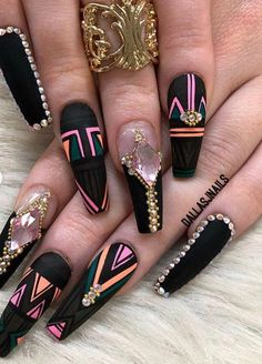 Nails beauty // nails 7 in 2019 ongles vernis, ongles, ongles tendance. Glam Nails, Hot Nails, Bling Nails, Beauty Nails, Fabulous Nails, Gorgeous Nails, Pretty Nails, Cute Acrylic Nails, Acrylic Nail Designs