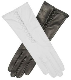 Fratelli Orsini Women's Italian Silk Lined Gloves with Buttons Size 7 Color White Leather Gloves Online Style Number: CS4255 - Made In Italy. Mid-forearm length(6 button length) * Real working buttons on back side of gloves. Made of the finest Italian lambskin leather. Lined with 100% pure Italian silk. FREE SHIPPING BOTH WAYS (in the USA, see our return policy).  #FratelliOrsini #Apparel