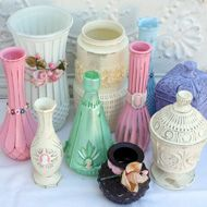 Up-Cycled Flea Market Glass Vases