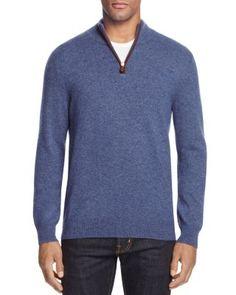 The Men's Store at Bloomingdale's Cashmere Half-Zip Sweater | Bloomingdale's