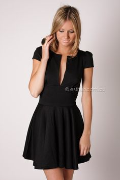 Esther Boutique - shelley cocktail dress - black