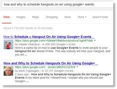 Google Plus Posts Search Ranking - What makes one post outrank another? Ex. 1