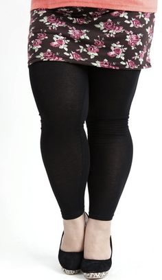 "Leslie, I think my tree trunk legs would look like THIS in leggings ...but add a mid leg ""panty"" line for garments. Ew."