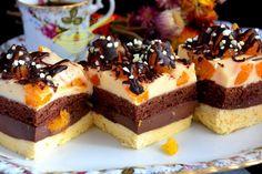 """z cukrem pudrem: ciasto """"Mandarynka w czekoladzie"""""""