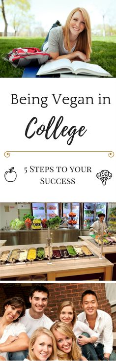 Are you in #college and want to go #vegan? We've collected 5 top tips on how you can succeed on this #diet during your time on campus while being on a budget.