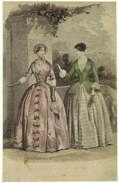 1849. Day dresses, France.