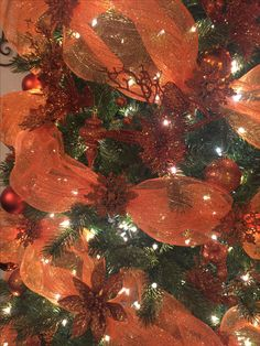my christmas tree decoration burnt orange and brown color theme orange christmas tree - Orange Coloured Christmas Tree Decorations