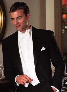 black tux with coat tails, I love this look English Gentleman, Gentleman Style, Dapper Gentleman, Sharp Dressed Man, Well Dressed Men, Men's Business Outfits, Gentleman's Wardrobe, Black Tie Affair, Tuxedo Dress