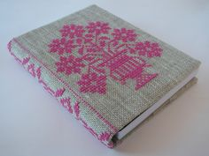 Cross Stitch A6 Journal & Cover - Posy of Flowers | Felt