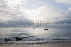 Beautiful landscape on tanzanian coast in the morning  Stock Photo