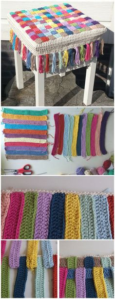 Crochet Stool Cover